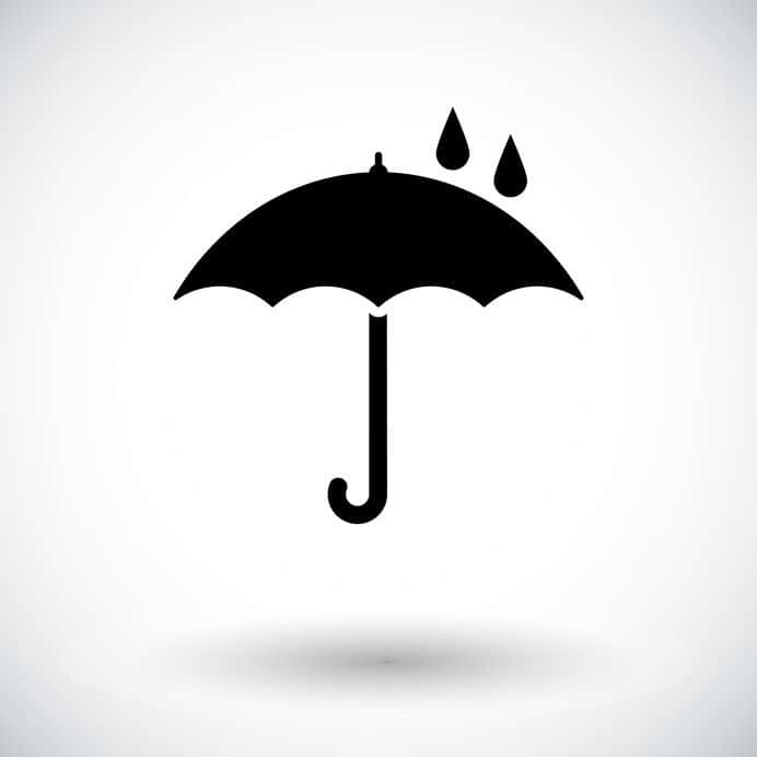 Umbrella with drop